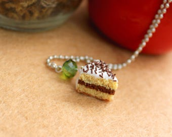 Chocolate cake necklace
