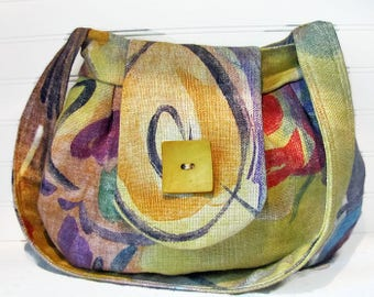 Fabric Purse, Purse, Handbag, Hobo Purse, Shoulder Bag, Pleated Purse, Multi Color bag, Ladies Handbag, Obiandoli Handbags