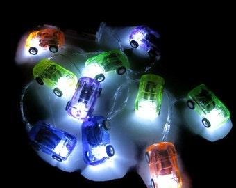 Led String Lights - #Cars# Night Lights,#Battery Operated,#LED string lights,#Nursery Lights, #Home Decor#boys room
