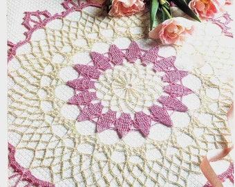 287. Vintage crochet  doily UK pattern in pdf
