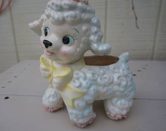 Vintage Little Lamb Ceramic Planter by Samson Import Co ~ Dated 1961 ~ Made in Japan