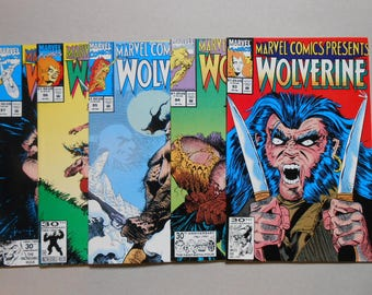 Wolverine; Marvel Comics Presents 93, 94, 95, 96, 97; Logan movie; Old Man Logan; Ghost Rider; Cable; Flip books; two covers; High Grade