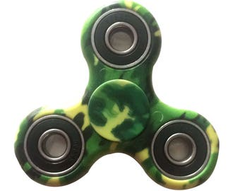 jungle camo fidget spinner