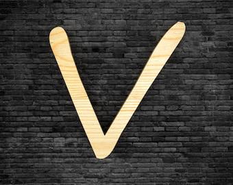 Wood - V letters