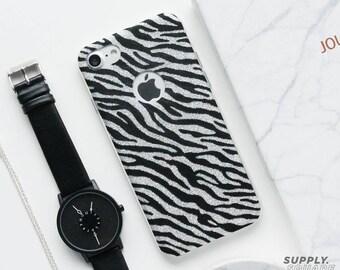 Glitter Zebra iPhone Case - iPhone 7 Case, iPhone 6 Case, iPhone 6s Case, Zebra iPhone Case, Glitter iPhone Case, High Fashion, Minimalist