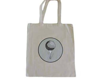 Golf Ball Image Tote Bag