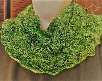 Hand Knit Giselle Lace Cowl