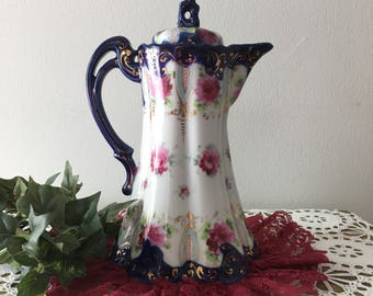 1960's Porcelain German Hot Chocolate Pot
