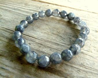 Turmaline Bracelet, Mens Bracelet, Womens Bead Bracelet, Gemstone Bracelet, Stretch Bracelet,Gifts, Crystal Bracelet , Mineral Bracelet,