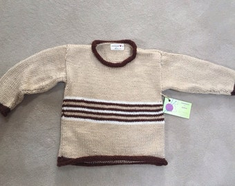 Custom made child's striped sweater