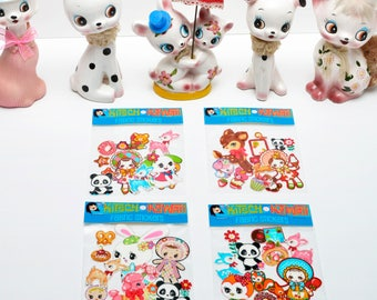 Kawaii Fabric Sticker Packs - 9 Gorgeous Fabric Stickers Per Package