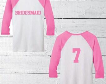 Baseball tee shirt, long sleeve shirt, bride shirt, before the big day, future mrs. shirt, custom bride shirt, bridesmaid gifts