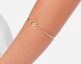 Knot Bracelet, Tie the Knot Bracelet, Gold Knot Bracelet, Love Knot Bracelet, Tie the Knot, Bridesmaid Gift, Rose Gold Bracelet, Love Knot