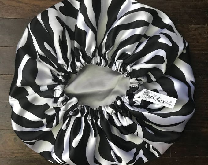 REVERSIBLE Zebra Print Bonnet (Please Specify Infant and Childrens Age)