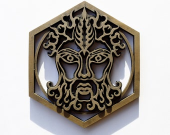 Bronze Resin Greenman Plaque