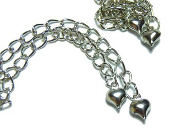 5 extension chain approx. 70 mm in silver with a small heart