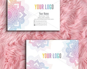 Mandala Custom Business Cards