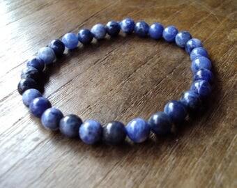6mm Kyanite bracelets,Real stone,Stone bracelets,Blue bracelets