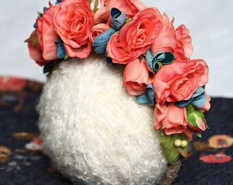 flower headband,flower crown,floral hair piece,spring, Easter,photo prop,photo session,birthday party,birthday girl,flower girl,wedding