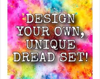 CUSTOM DE wooldreads -hand-dyed-