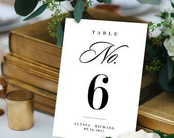 Table Number Card Template, Printable Wedding Table Number, DIY Table Card Template, Editable Text, PDF File, Digital, 5x7 #101TC