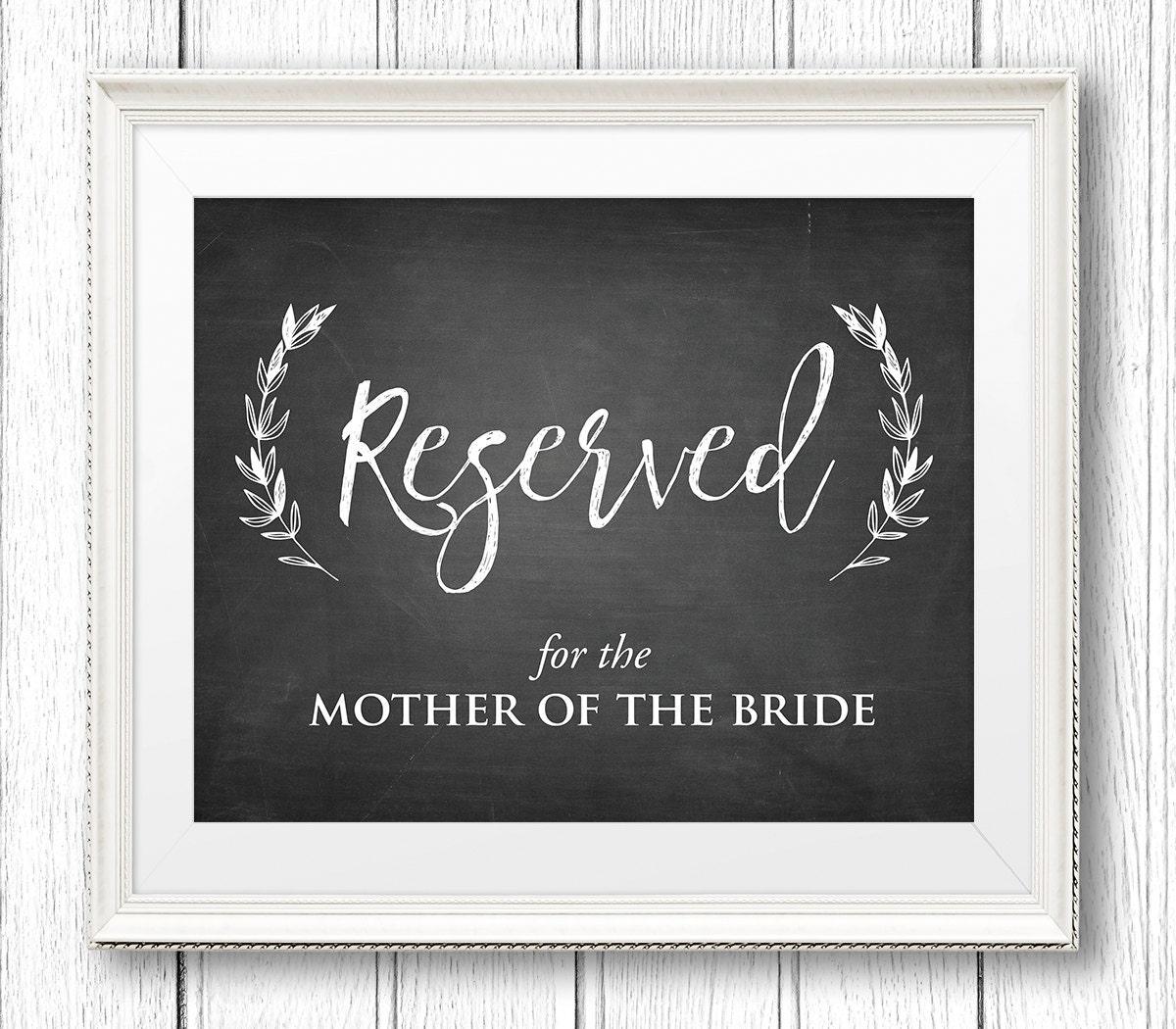 wedding reserved sign printable reserved table seat. Black Bedroom Furniture Sets. Home Design Ideas