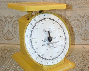 Mid-Century Sears Yellow Kitchen Scales