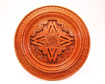 Round Wood Wall Decor wooden decorative plate wall plate wooden wall decor carved