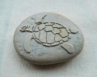 Sea Turtle Ornament - Engraved stone - Sea Turtle Ornaments - Sea Turtle Gifts - Sea Turtle Gift - Sea Turtle Decor - Personalized Free