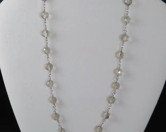 Faceted Crystal Chain Necklace