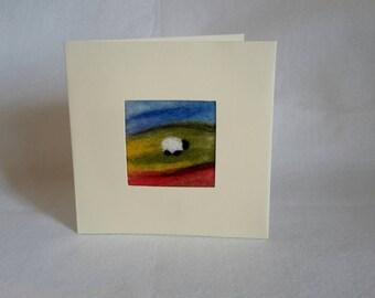 A felt card