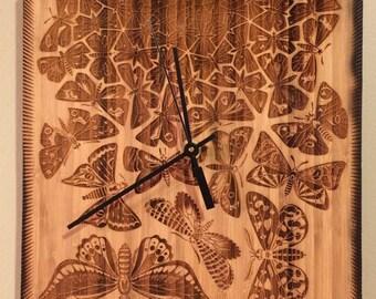 Escher-inspired Butterfly Clock