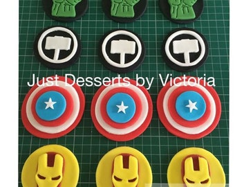 Avengers cupcake toppers set of 12