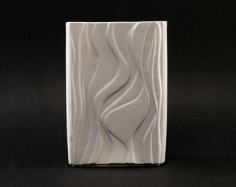 OP ART Bisque Porcelain Vase by HEINRICH West German Vintage Form 2086