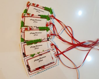 Re-useable Christmas gift tags