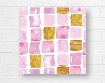 Pink Pattern Canvas Art Print