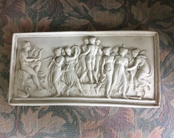 SALE REDUCED!  Vintage Plaster Relief, Shabby Chic