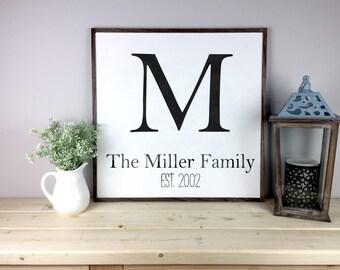 Established Sign | Family Established | Family Name Signs | Last Name Sign |  Wedding Gift | Monogram Sign