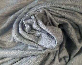 "100%Linen jersey knit Natural fiber ""Denim blue""by the yard Eco-friendly 60"" wide"