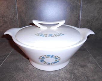 Mid Century Canonsburg Temporama Casserole Serving Dish with Lid and Handles