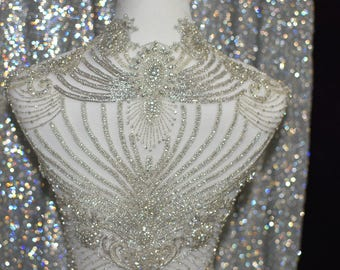 Back piece beaded embroidery
