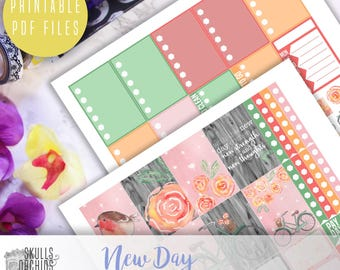 New Day Weekly Kit - Printable Stickers for HAPPY PLANNER