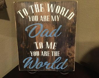 Dad wood sign