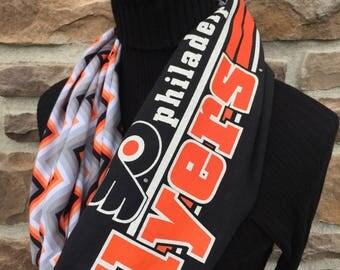 Philadelphia Flyers - Infinity Upcycled T shirt Scarf - Double Loop - NHL