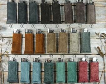 Lighter case - lighter Pocket - lighter case - leather leather leather lighter plating - decorative bags lighter