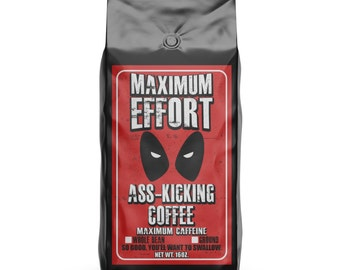 Deadpool Maximum Effort Hand Roasted Coffee - 16oz.