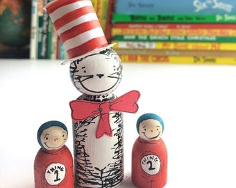 Cat in the Hat Peg Doll