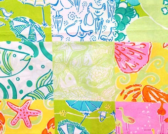 BEACH PATCH Lilly Pulitzer Fabric ~ Assorted Sizes