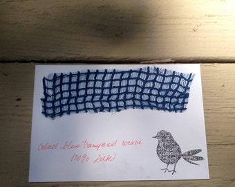 100% Silk Handloom, Cobalt Blue, Transparent Weave, Artisan Made