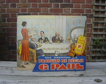 Biscuits Paul. Vieille Publicité. PLV. Old pub. Collection. France